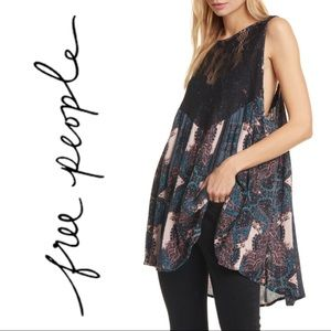 NWT Free People Count Me In Trapeze Tunic Tank Top